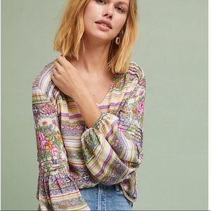 Anthropologie | Maeve | Ceresco Peasant Top